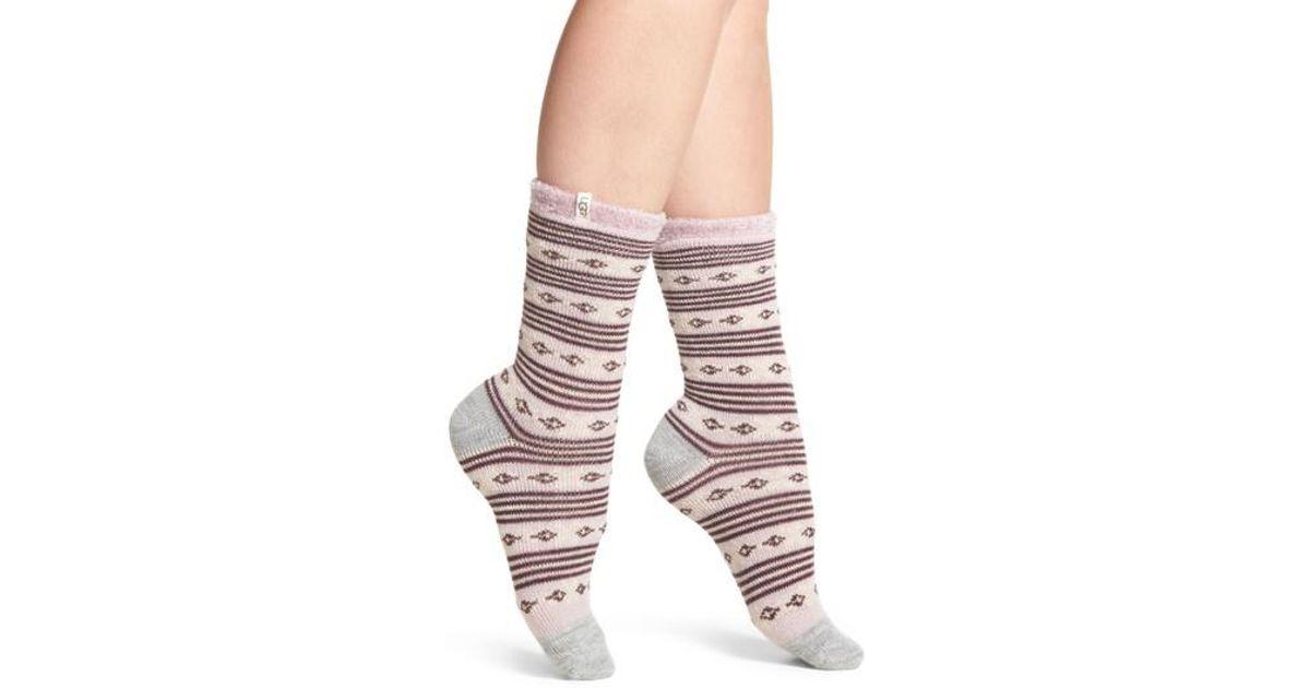 Ugg Ugg Fair Isle Fleece Lined Socks | Lyst