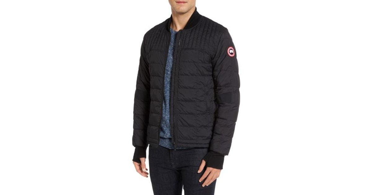470f0d97fd5eb ... coupon code lyst canada goose dunham slim fit down bomber jacket in  black for men a65d8