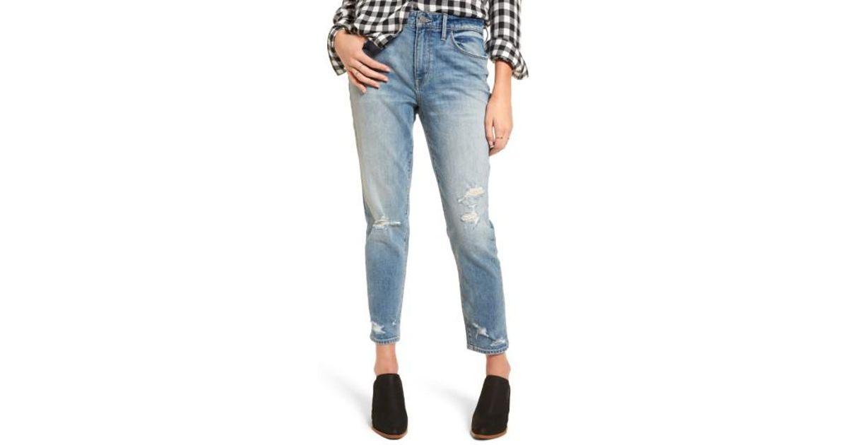 treasure bond loose fit slim jeans in blue lyst. Black Bedroom Furniture Sets. Home Design Ideas