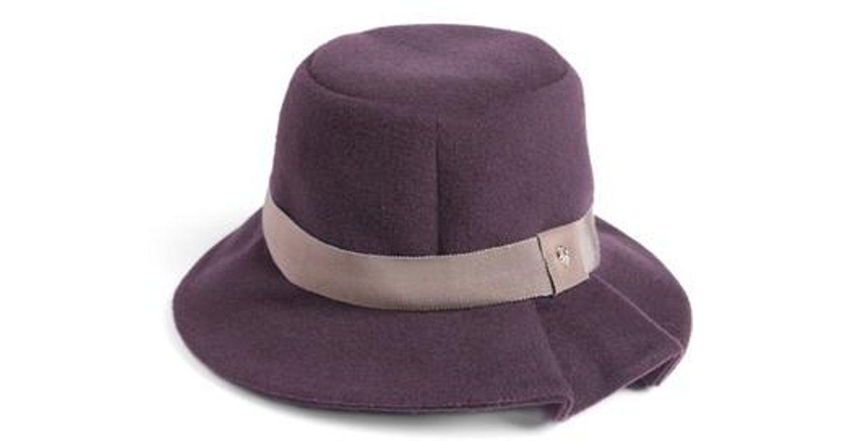5e156045f5b1a Lyst - Helen Kaminski Luxe Tapered Bucket Hat in Purple
