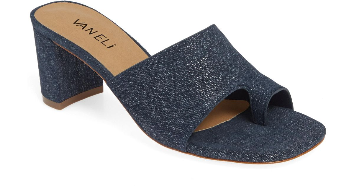 4f9c062b7a3 Lyst - Vaneli Maysa Slide Sandal in Blue