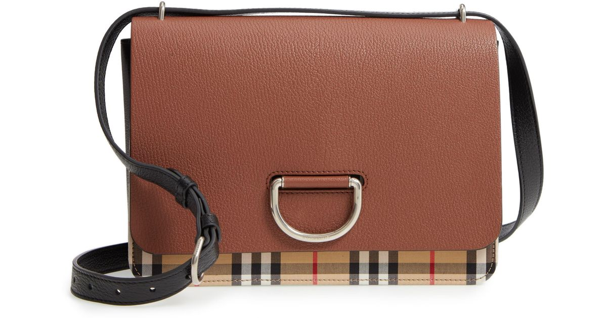 2568a5820 Burberry Brown Leather Shoulder Bag in Brown - Save 24% - Lyst