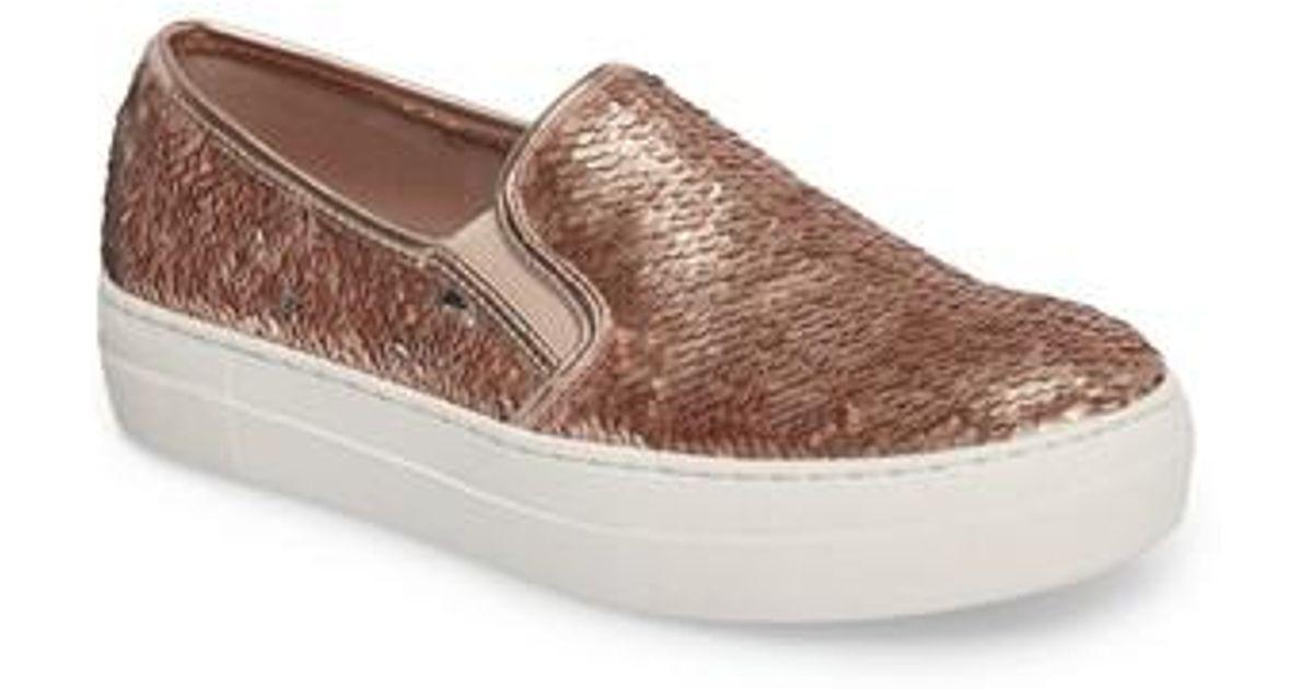 085ce5bec35 Lyst - Steve Madden Gills Sequined Slip-on Platform Sneaker in Brown