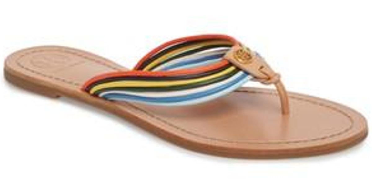 8cbcfe072ae1 Lyst - Tory Burch Sienna Strappy Thong Sandal