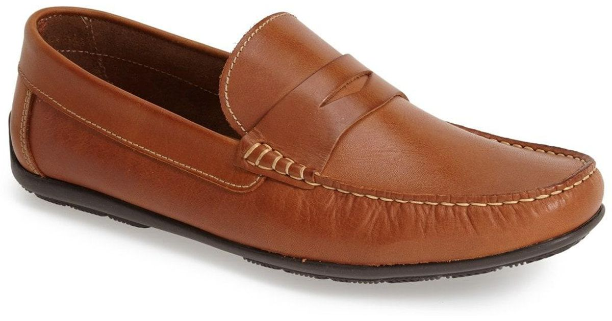 d7747f721df Lyst - Sandro Moscoloni  paris  Leather Penny Loafer in Metallic for Men
