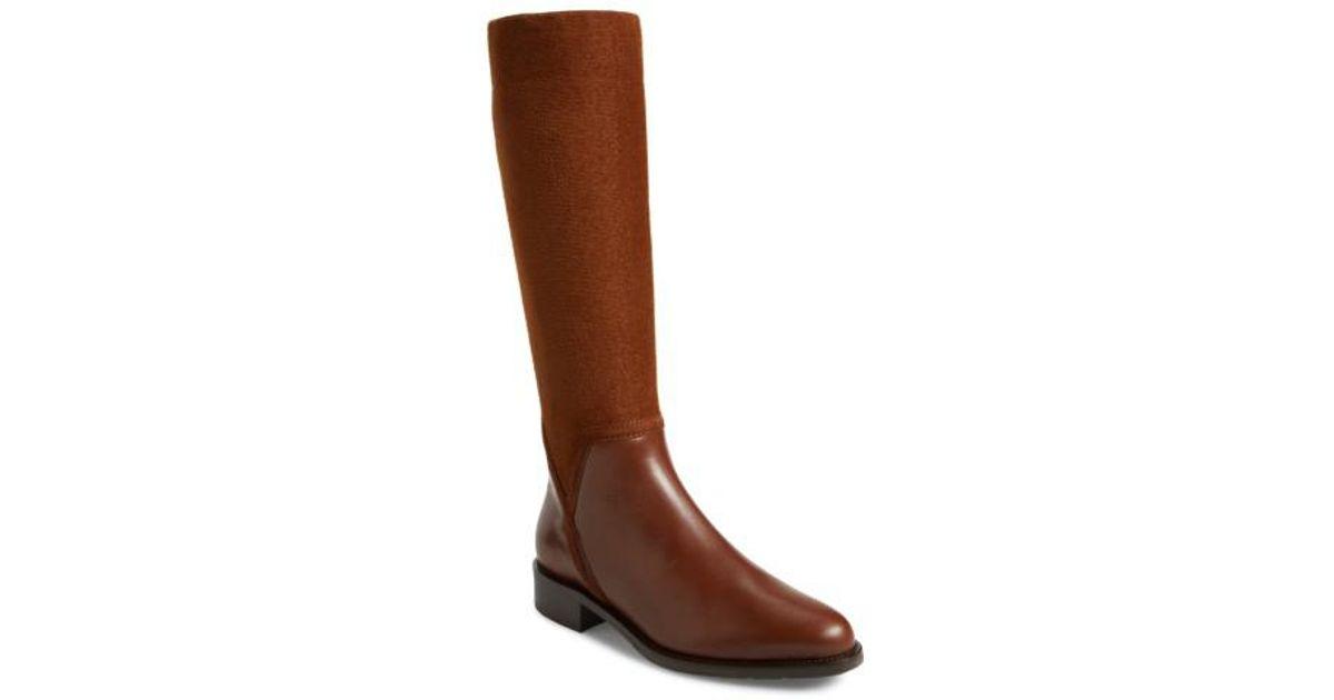 9eed6ff40fa Lyst - Aquatalia Nicolette Weatherproof Knee High Boot in Brown
