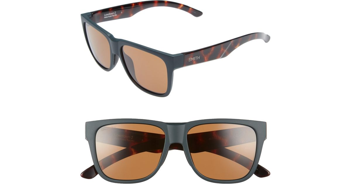 fefec60a3c Lyst - Smith Lowdown 2 55mm Chromapop(tm) Square Sunglasses