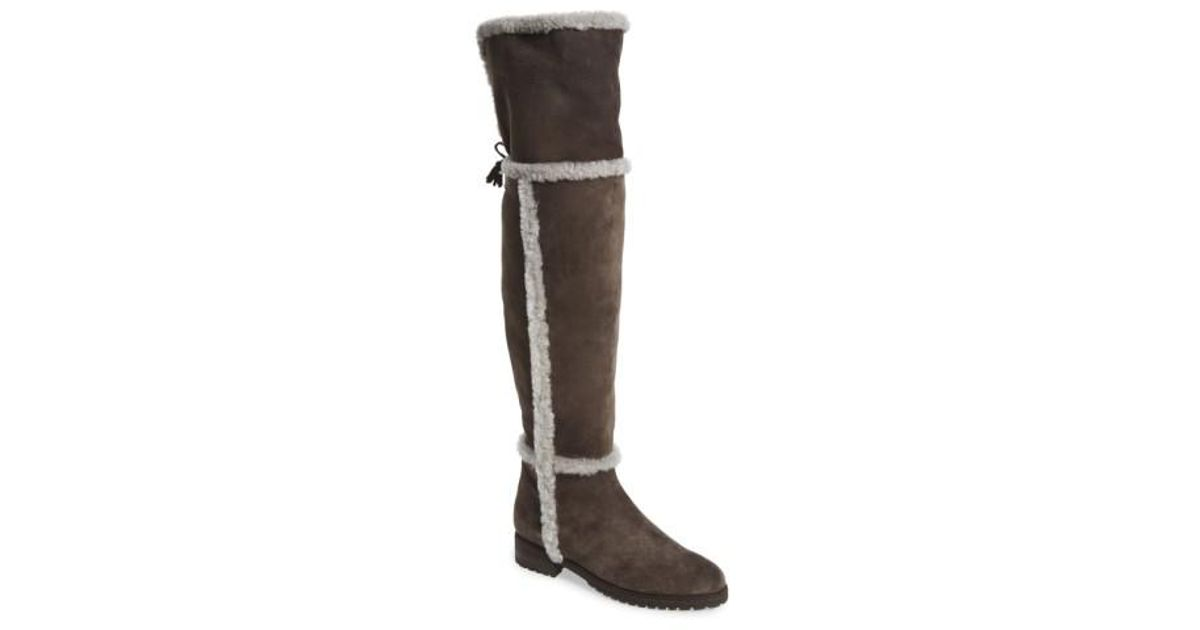 43d059a6ad3 Lyst - Frye  tamara  Genuine Shearling Over The Knee Boot