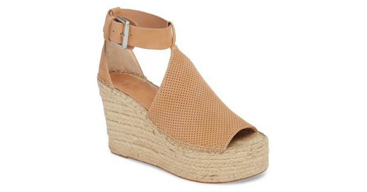 ec5f16f05286 Lyst - Marc Fisher Annie Perforated Espadrille Platform Wedge (women) in  Brown