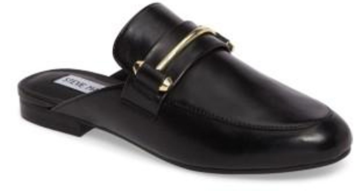 7a30379ef3b Lyst - Steve Madden Kera Flat Loafer Mule in Black