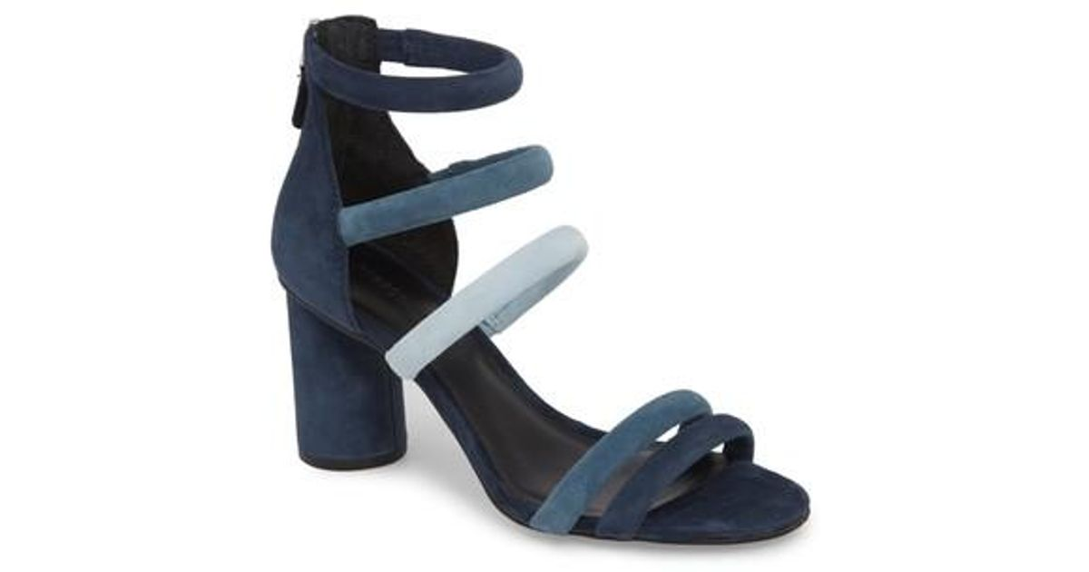 Rebecca Minkoff Women's Andree Suede Color-Block Ankle Strap High-Heel Sandals wYLSff2fm1