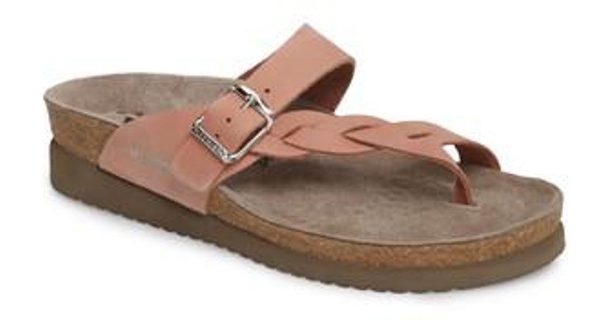 42cc5aa7c1 Mephisto 'helen Twist' Nubuck Leather Sandal in Pink - Lyst