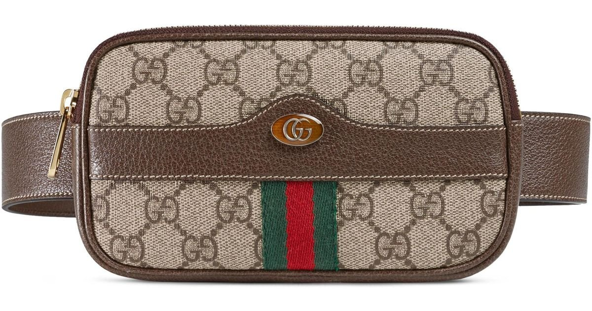 40947ef385d Lyst - Gucci Ophidia Gg Supreme Small Canvas Belt Bag -