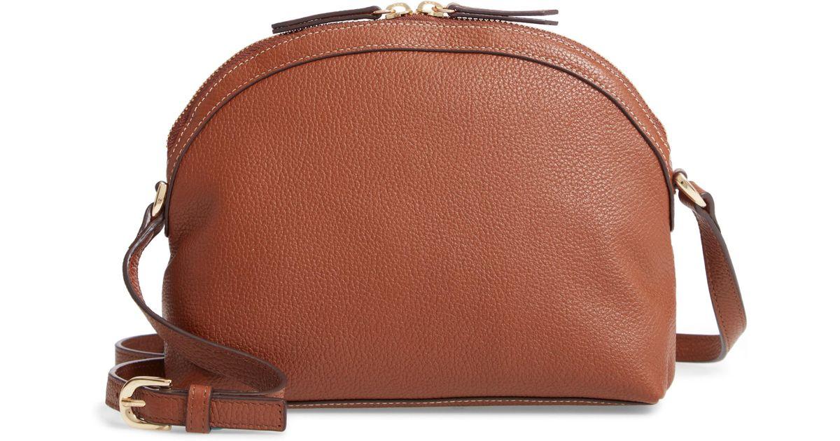 be109f45c1f1 Lyst - Nordstrom Half Moon Leather Crossbody Bag - in Black