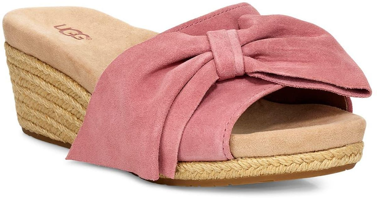 87aab30421 UGG Ugg Jaycee Wedge Slide Sandal in Pink - Lyst