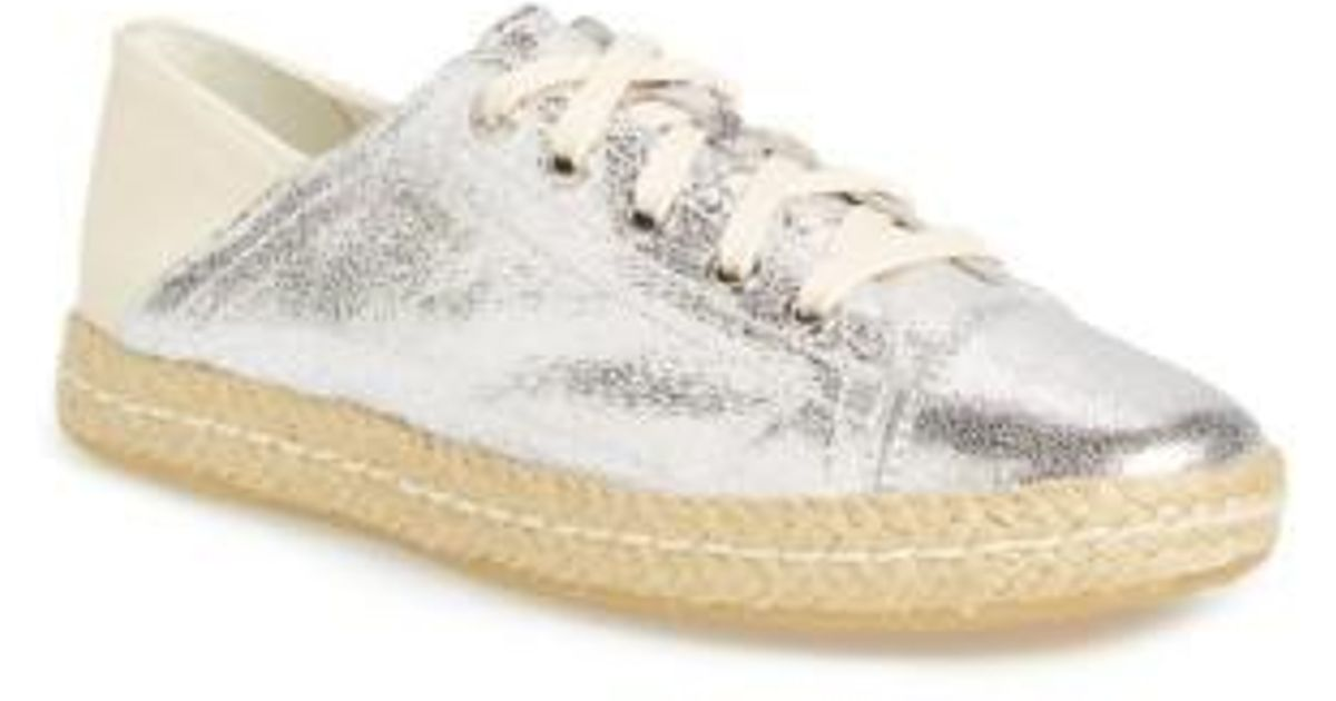 on sale 680b4 421ec geox-Silver-Off-White-Canvas-modesty-Espadrille-Sneaker.jpeg