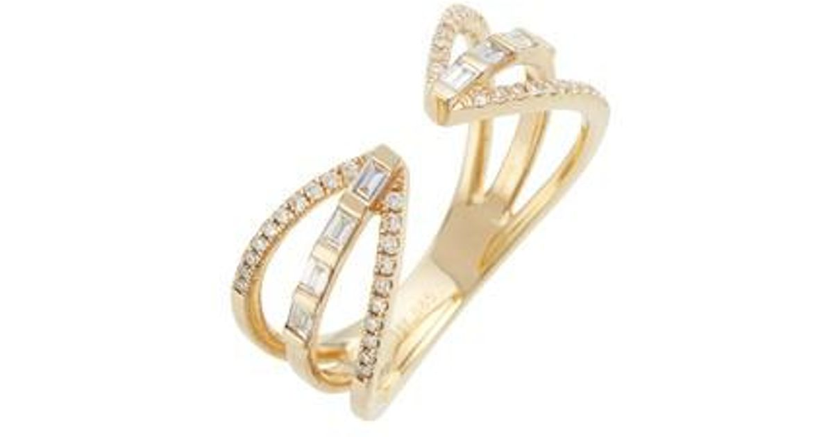 EF Collection 14k Gold Diamond Snake Ring DgdKe