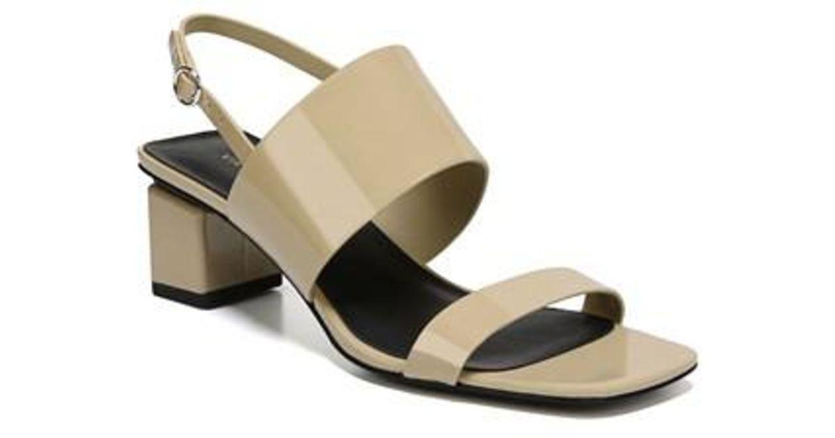 Via Spiga Forte Patent Leather Block Heel Sandals FYKQadgCC