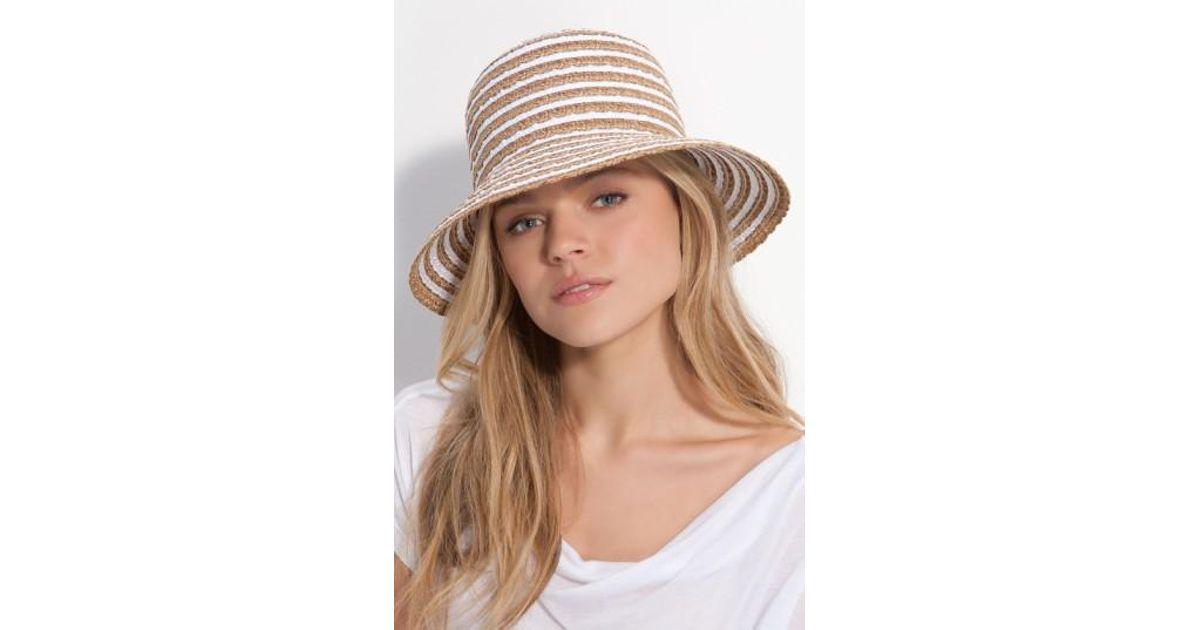 Lyst - Eric Javits  braid Dame  Hat in White 0c004b92b60