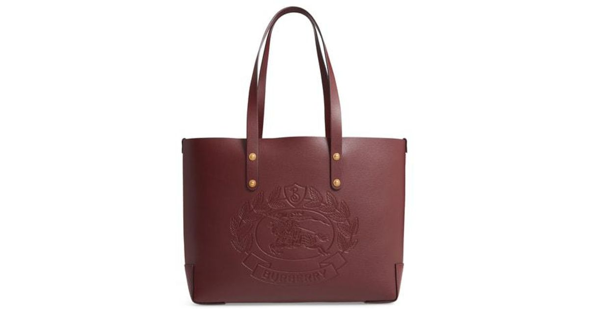 Burberry Embossed Crest Small Leather Tote - - Lyst f5624f1bf727d
