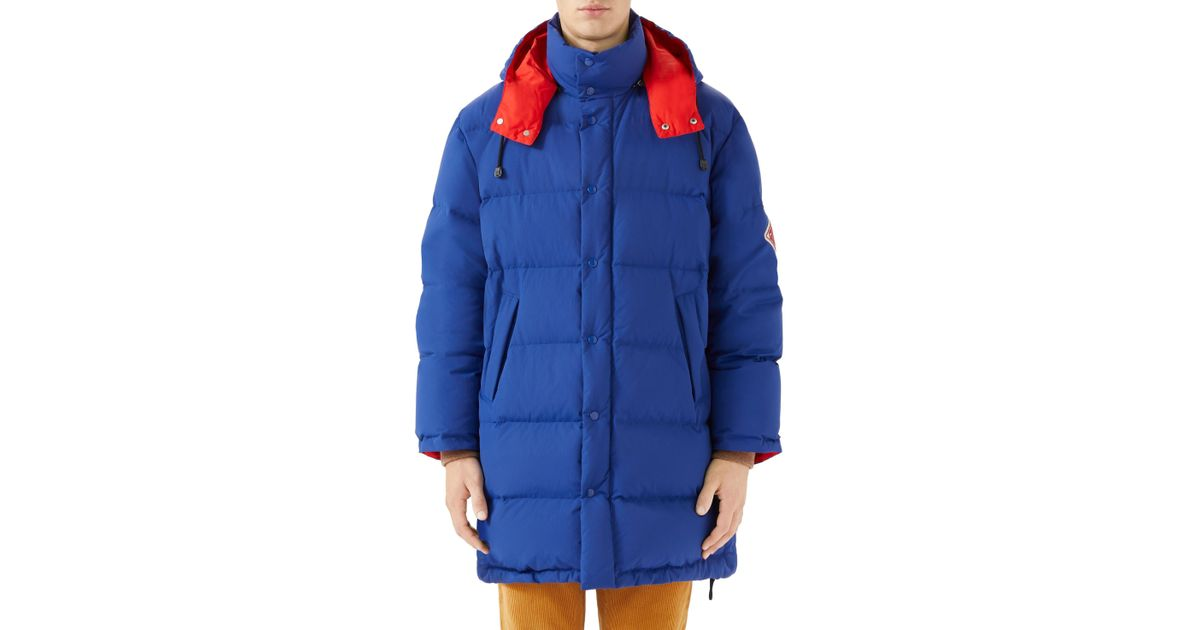 bfd7721b1 Lyst - Gucci Matte Down Jacket in Blue for Men