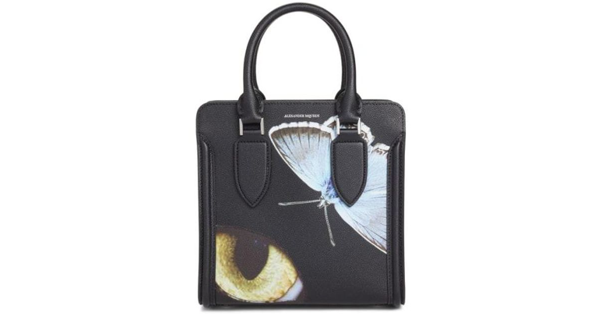 Lyst Alexander Mcqueen Small E Obsession Print Calfskin Leather Tote
