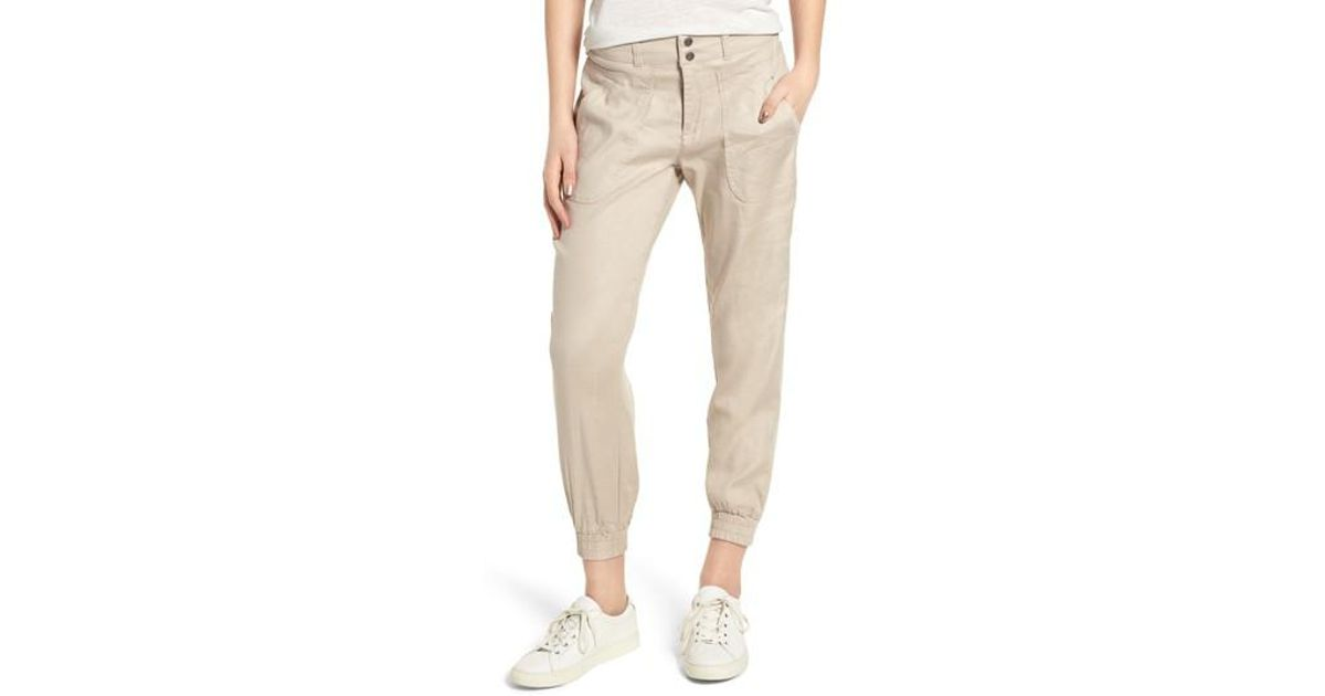 cc096530ebe Lyst - Liverpool Jeans Company Ava Linen Blend Jogger Pants in Natural