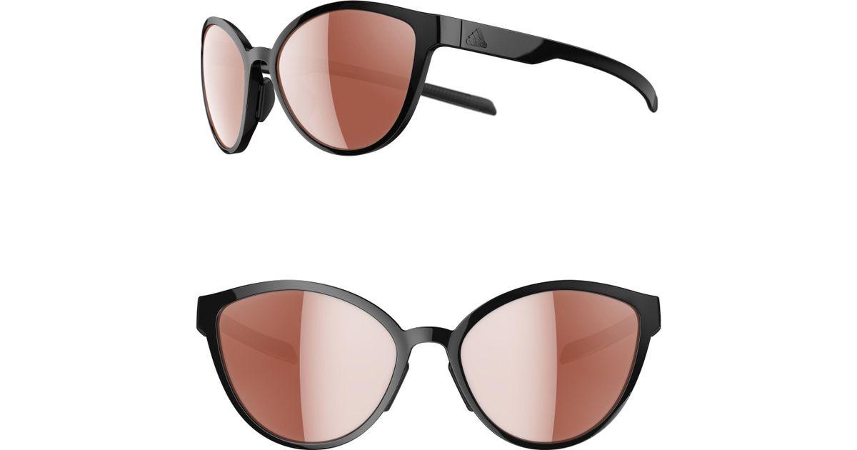 1bf44bdad8 Lyst - adidas Tempest Lst 56mm Cat Eye Running Sunglasses in Black