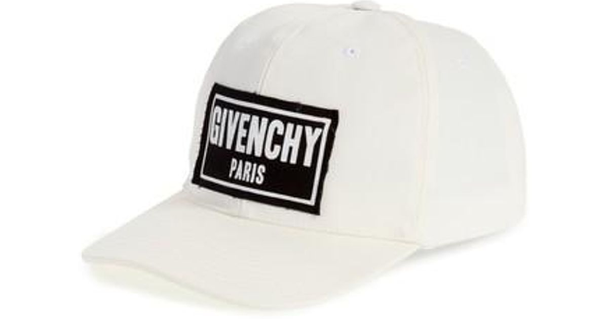 35db2aa68ea Lyst - Givenchy Box Logo Patch Canvas Cap in Black for Men
