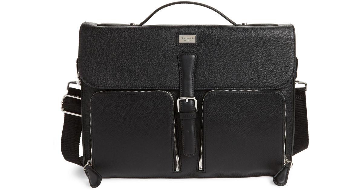 0c8312d63b832 Lyst - Ted Baker Munch Leather Satchel Briefcase in Black for Men