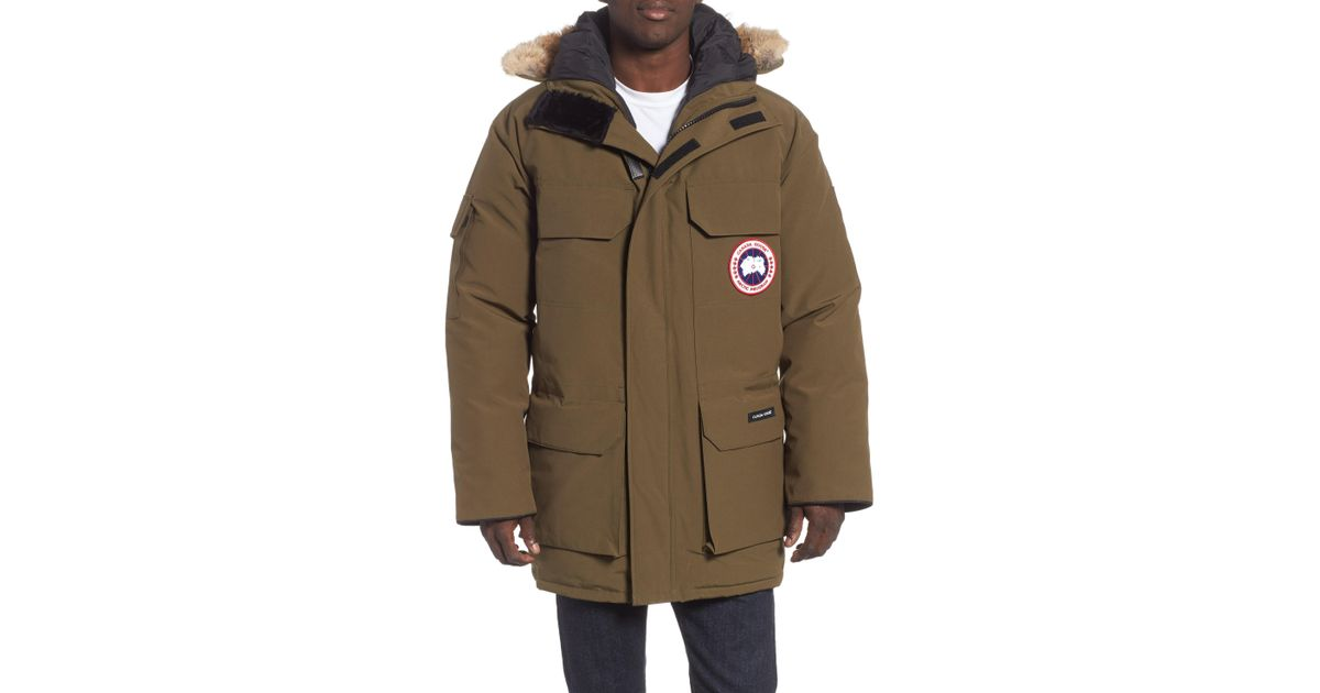f1c8909ba42e Lyst - Canada Goose Pbi Expedition Regular Fit Down Parka With Genuine  Coyote Fur Trim in Green for Men