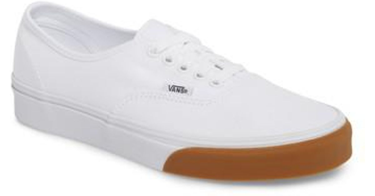Lyst - Vans Authentic Gum Bumper Sneaker in White for Men - Save 55% 72ba64211