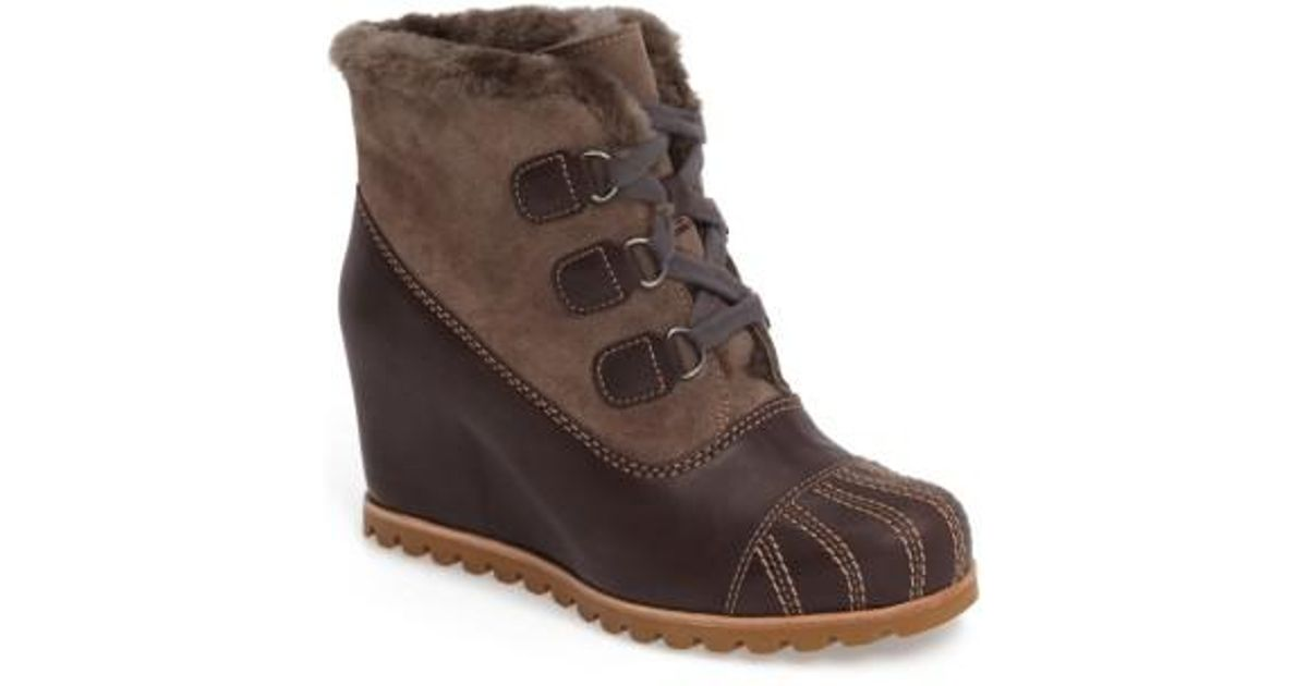 2e59b43c90d UGG Ugg Alasdair Waterproof Wedge Bootie in Brown - Lyst