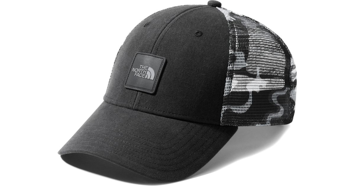 2becb0c9a The North Face - Black Mudder Trucker Cap for Men - Lyst