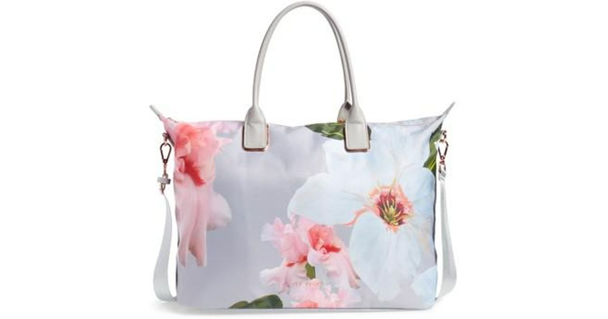 4dd5d644f5cd Lyst - Ted Baker Large Orchida Chatsworth Bloom Nylon Tote