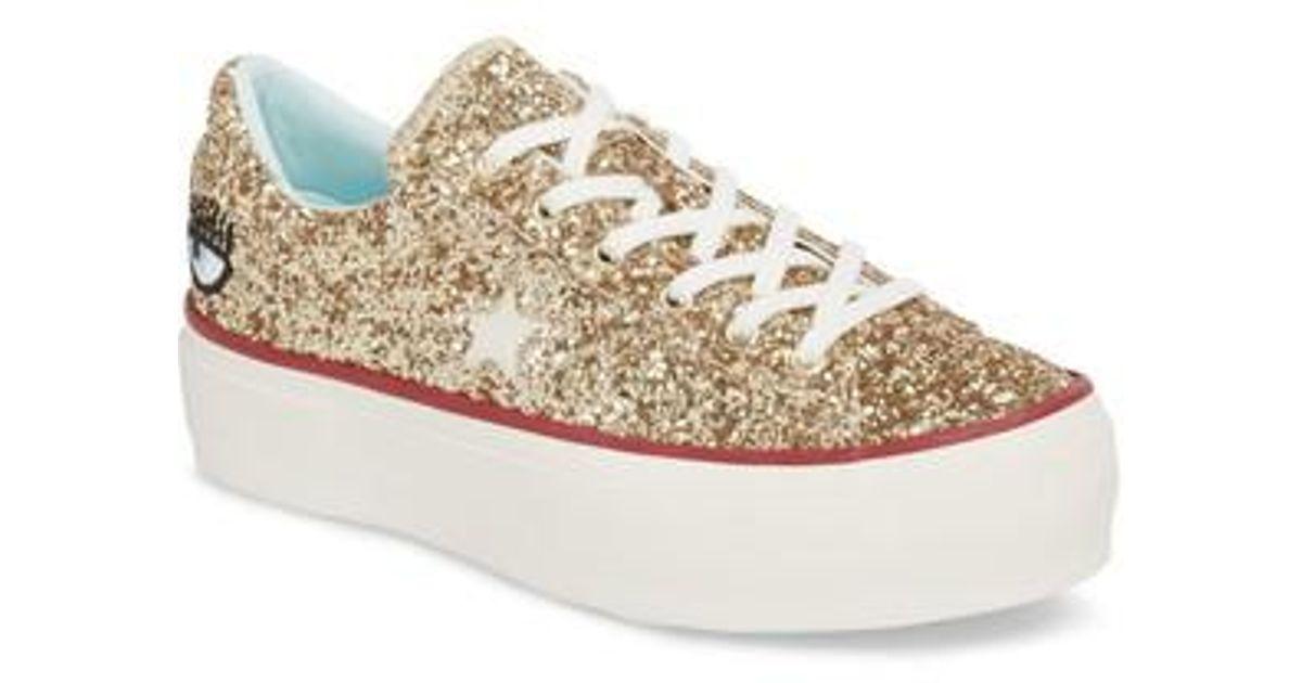 Chiara X Converse Ferragni Sneaker Star One Glitter Platform Lyst Lc53AjqS4R