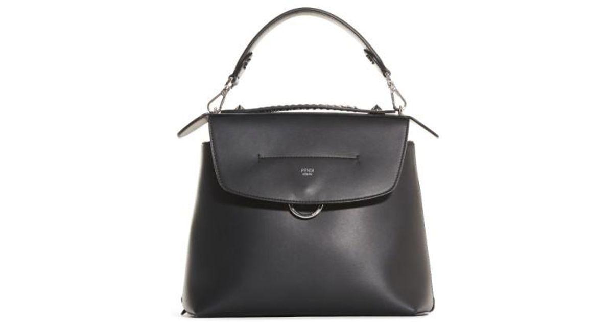 ddb60a7cc8 Lyst - Fendi Mini Back To School Leather Backpack in Black