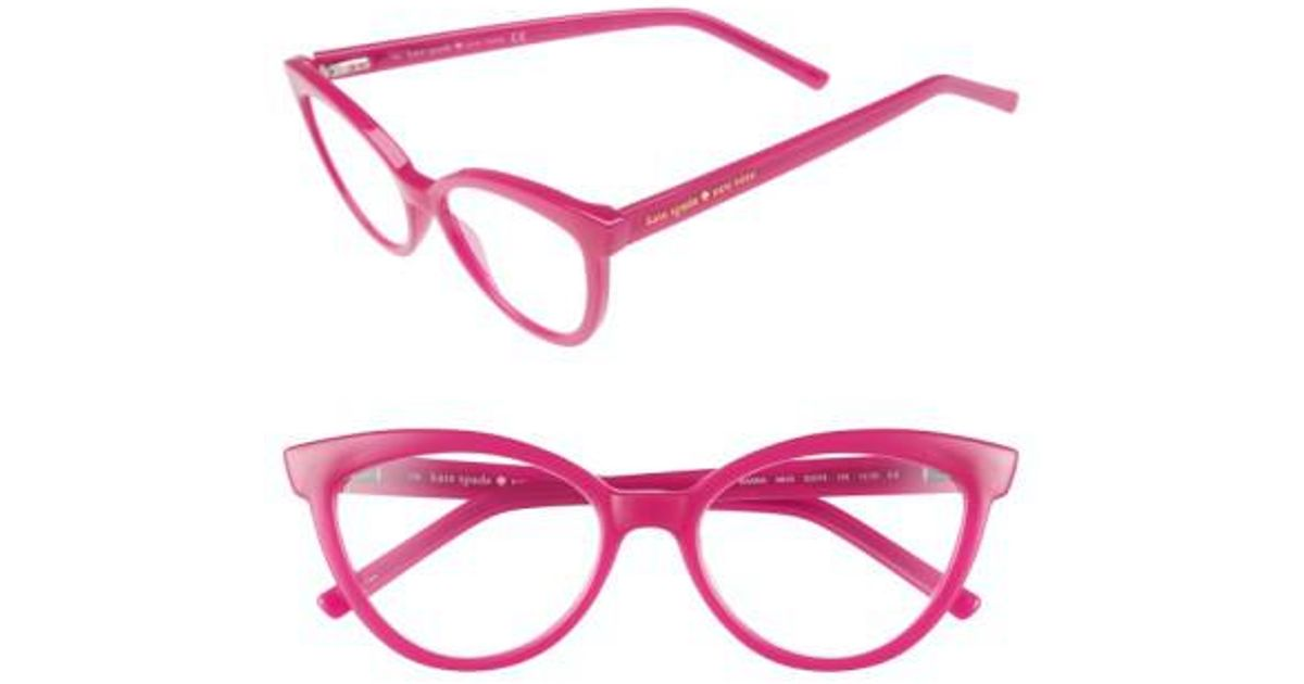 0d5cdd8d1aa Lyst - Kate Spade  danna  52mm Cat Eye Reading Glasses - in Pink