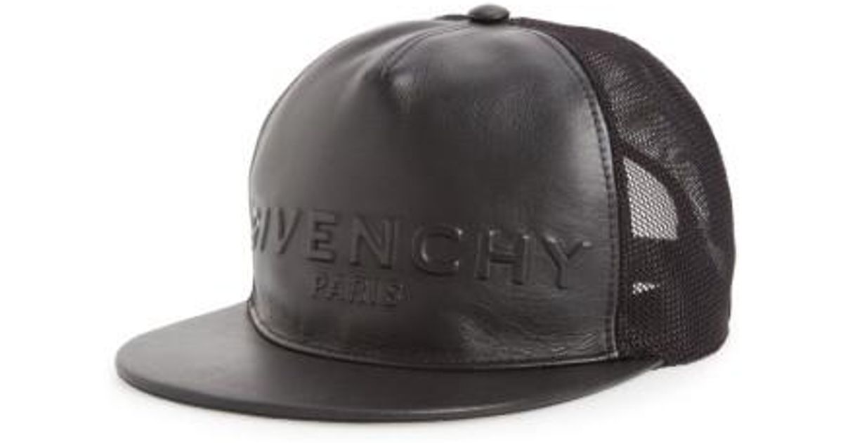 Lyst - Givenchy Leather Front Trucker Cap in Black for Men 83da1839abd