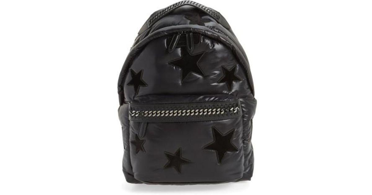 20d1af0176 Lyst - Stella McCartney Falabella Go All Over Stars Backpack in Black