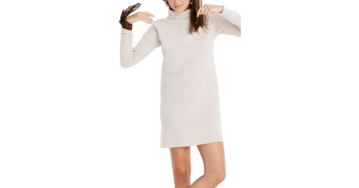 9cc2bd9a349 Lyst - Madewell Skyscraper Merino Wool Sweater Dress in White