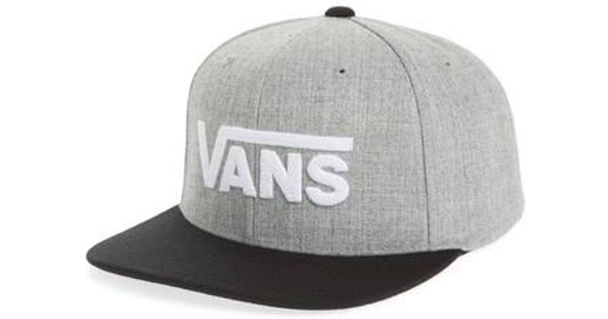 8714622342b Lyst - Vans Drop V Ii Snapback Cap in Gray for Men