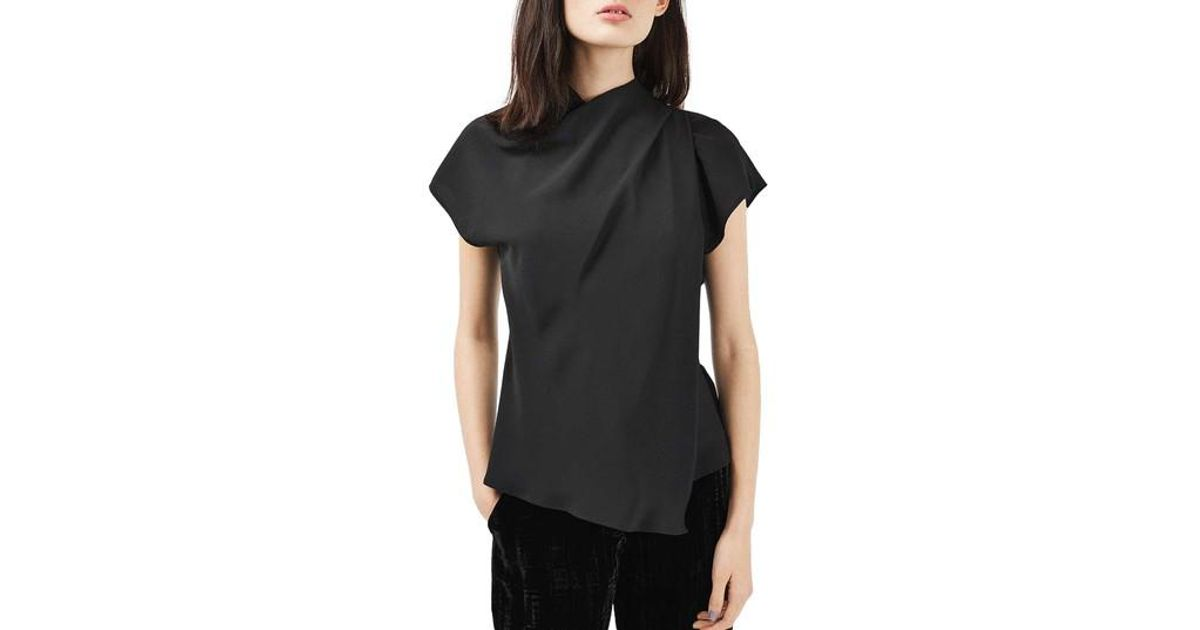 Lyst Topshop Origami Top In Black