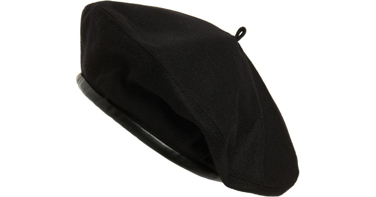 a01738c7aaaed Lyst - Eric Javits Kate Wool Beret - in Black