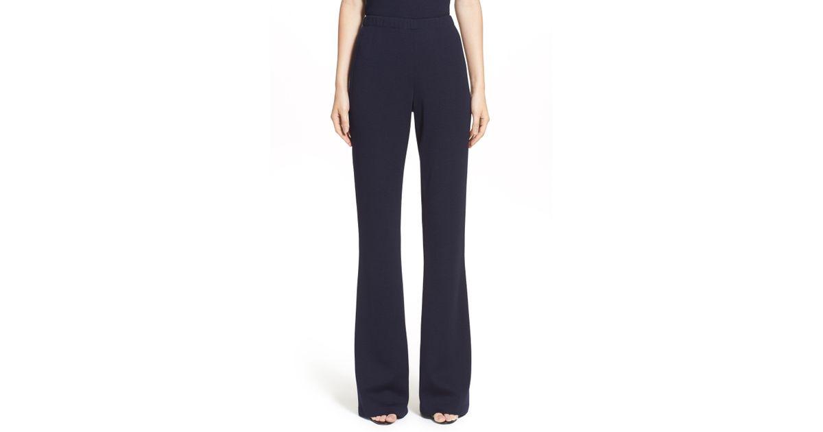 906d9f058fb47 Lyst - St. John 'kasia' Bootcut Milano Knit Pants in Blue