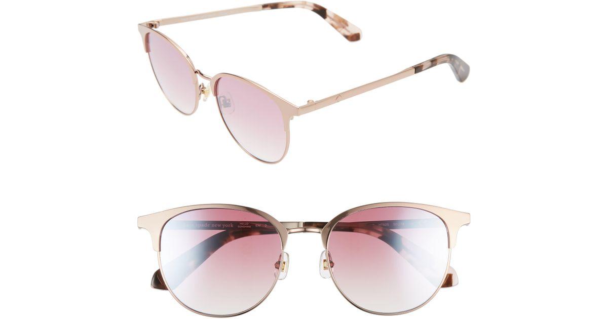 68f8ebf4f7b6 Kate Spade Joelynn 52mm Sunglasses in Pink - Lyst