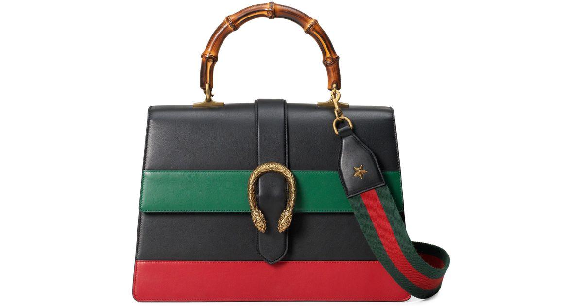 fe482ef17 Gucci Large Dionysus Top Handle Leather Shoulder Bag - - Lyst