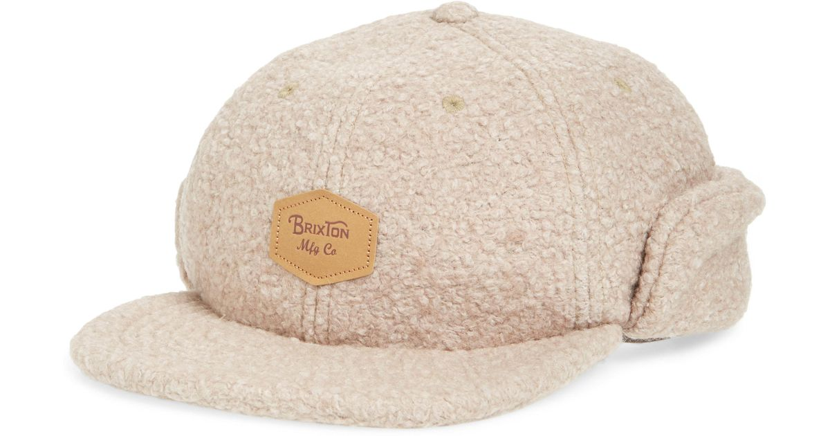 6e1071525da Lyst - Brixton Trig All Terrain Fleece Cap in Natural for Men - Save 68%