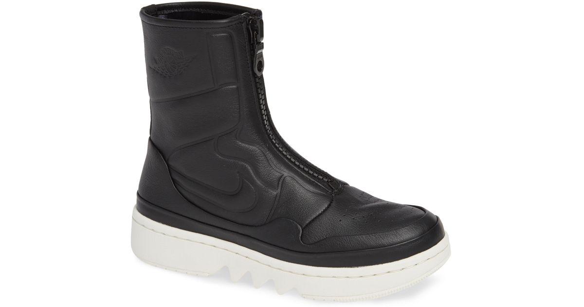 wholesale dealer c4f28 a867d Nike Air Jordan 1 Jester Xx Front Zip Sneaker Bootie in Black - Lyst