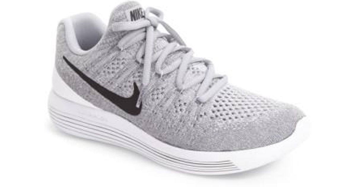 a72dbf5a1c70 ... purchase lyst nike flyknit 2 lunarepic running shoe in gray 6afbe 344cc